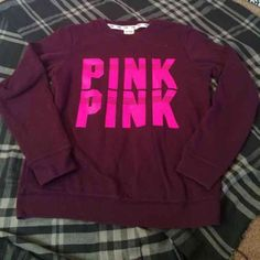 Victoria's Secret PINK Maroon and Pink Crew Victoria's Secret PINK Maroon and Pink Crew. Size extra small. Fabulous condition with no damages!!! Maroon and pink go so well together! Someone get this!!! No trades (: bundle to save. Cheaper on Ⓜ️!!! Reasonable offers are considered !! PINK Victoria's Secret Sweaters Crew & Scoop Necks