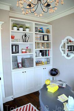 blogger office bookshelves