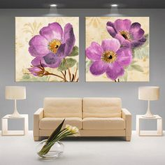 3D moderno lótus branco definição fotos lona Impressão pintura cuadros Decoração sala Parede modular (sem moldura) 2 pcs