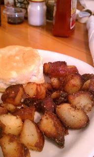 Potatoes straight from heaven here at Brother Juniper's in Memphis, TN.