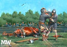 Guy of Steenvoorde versus Iron Herman, by Zvonimir Grbasic. Medieval World, Medieval Knight, Medieval Times, Fantasy World, Dark Fantasy, Norman Knight, Armadura Medieval, Epic Movie, Early Middle Ages