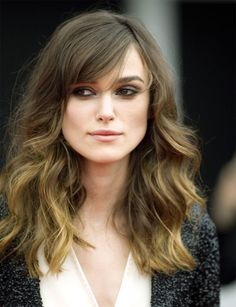Elegant Keira Knightley Long Wavy Haircuts