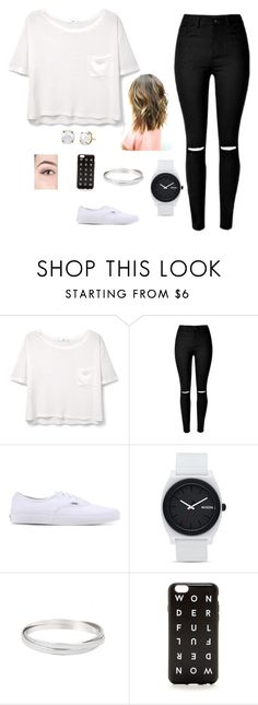 """Sin título #23"" by dannaceci ❤ liked on Polyvore featuring MANGO, Vans, Nixon, J.Crew and Irene Neuwirth"