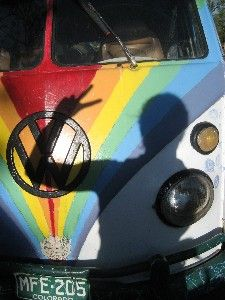 rainbow van (photo by blogger).....I want one that is painted like the mystery machine:)
