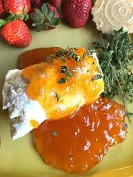 Goat cheese with apricot jam