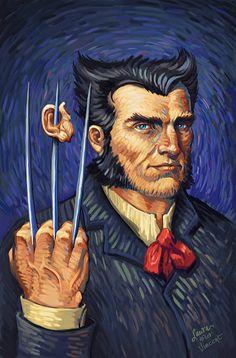 Portrait of Wolverine (after Vincent van Gogh) by Laura Martin #art #artwork #arte