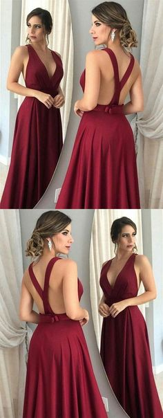Sexy Backless Prom Dresses Long, Prom Dress, Evening Dresses, Formal Dresses, Graduation Party Dresses, Banquet Gown
