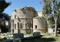 church of saint simeon stylites - apse