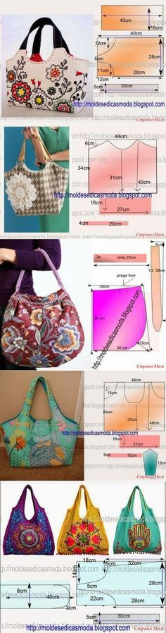 New Sewing Patterns Bags Tuto Sac Ideas Patchwork Bags, Quilted Bag, Bag Patterns To Sew, Sewing Patterns, Messenger Bag Patterns, Sewing Crafts, Sewing Projects, Diy Crafts, Craft Bags