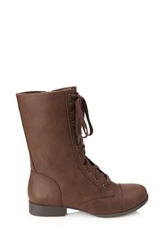 umm... does anyone want to buy these for me?... darn oh well i guess ill find it in my budget!  Faux Leather Lace-Up Booties #Boots