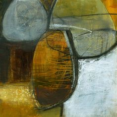 Stone Unturned #12 Abstract painting and collage by Jane Davies