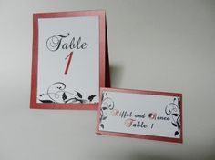Wedding Folded Pearlescent Table Number Cards by wrappersdelites, $2.10