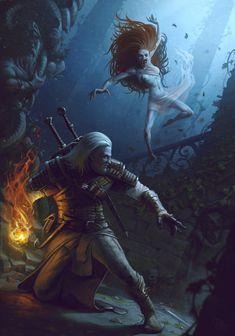 The Witcher,Ведьмак, Witcher, ,Игры,Игровой арт,game art,NSFW