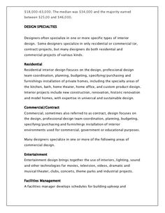 High Resolution Interior Design Contract Template  Architecture
