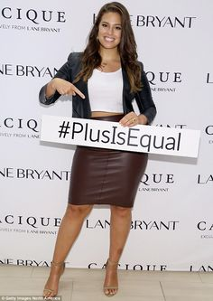 For the cause: Ashley was one of several plus-sized models to champion Lane Bryant's #Plus...
