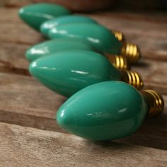 seafoam green set christmas light bulbs