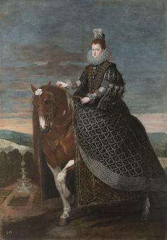 La reina Margarita de Austria, a caballo - Colección - Museo Nacional del Prado