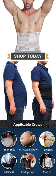 Mens High Elasticity Breathable Body Shaper for Belly Belt #fitness #sports #mens