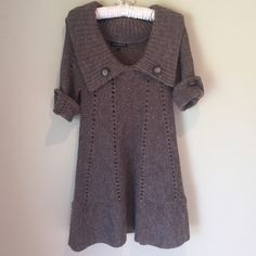 Sweater dress Size small Chaudry sweater dress. Lightly worn. Love this dress but decided to part with it since it never gets cold enough in SoCal. Chaudry Dresses Mini