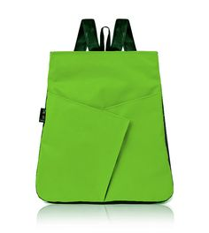Vegan GREEN Backpack Neon Green Everyday Backpack by estelladesign, $94.00