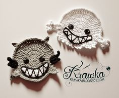 Halloween Coasters - Spirit. He is making a cute set with ghost, they are not the same but kind of opposite to each other. I love his lit...