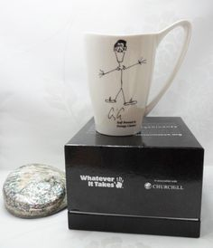 George Clooney Whatever It Takes Charity Mug In A Box Bone China Collectable