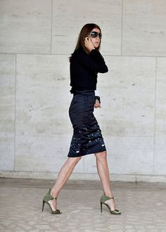 Navy and black on Carine