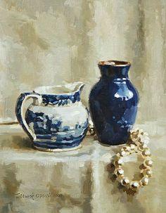 stilllifequickheart: Mark O'Neill Blue on White 2003