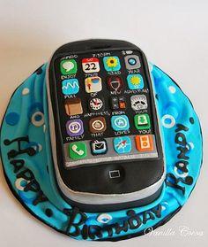 iphone cake, details!