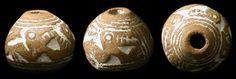 Manteno Culture, Ecuador. 1000-1500 AD. Nice whorl depicting winged serpent-bird creatures.