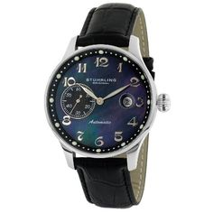 Stuhrling Original Men's 148.33151 Classic Heritage Automatic Mother Of Pearl Date Watch ** Want additional info? Click on the image.