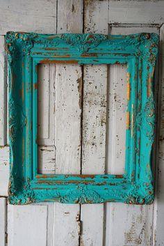 Turquoise wood pictu
