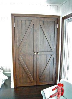Reclaimed Wood Closet Barn Doors