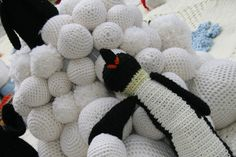 Estos pingüinos son unos buscapleitos jajajja #LanaConnection #CampañaporlaLana #Crochet