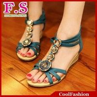 I think you'll like Fashion Bohemia Beaded Sandals Gladiator T straps Low Wedges Summer Shoes Open toe Slippers Rome Vintage Women Shoes. Add it to your wishlist!  http://www.wish.com/c/5427c67d82b9ac15b362c1da