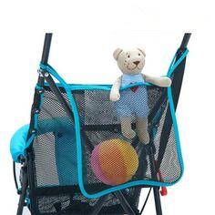 2PCS Cheap Baby Stroller Organizer Carrying Bag Baby Stroller Mesh Bag A Net BB Umbrella Car Accessories 4 Colors Option