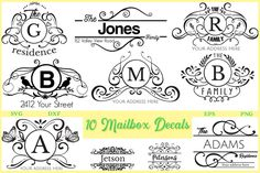 10 Mailbox Decals - Cut Files Pack (Graphic) by Nerd Mama Cut Files · Creative Fabrica Sayings For Wine Glasses, Mailbox Decals, Diy Mailbox, Vinyl Crafts, Religious Quotes, T Shirts With Sayings, Sign Design, Svg Cuts, Christmas Humor