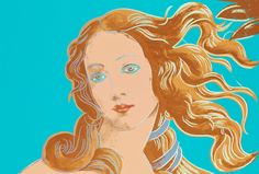 "ANDY WARHOL, ""VENUS"", FROM: ""DETAILS OF RENAISSANCE PAINTINGS (SANDRO BOTTICELLI, BIRTH OF VENUS, 1482)""."