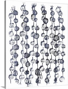 June Vess Solid-Faced Canvas Print Wall Art Print entitled Indigo Batik Vignette V Wall Art Prints, Framed Prints, Canvas Prints, Big Canvas, Outdoor School, Furniture For Small Spaces, Blue Tones, Mens Gift Sets, Vignettes