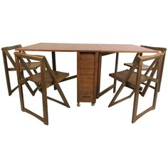 Large DropLeaf Gateleg Table By Henredon French Living - Mid century modern gateleg table