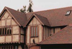 Английский фахверк - Керамическая черепица Dreadnought Tiles Collingwood Blend / http://www.dreadnought-tiles.co.uk/Collingwood_blend.html