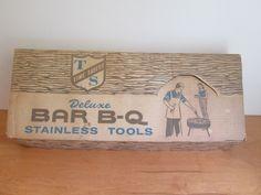 50's-60's Bar B-Q set NOS / Original box by Thriftology101 on Etsy