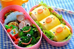 Chicks and Frogs bento