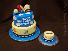 The perfect cake for a little boy! Construction trucks and a personal smash cake!