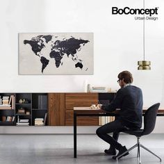 Concrete world map concrete pinterest concrete lugano wall mounted wall system with drop down door adelaide chair adelaide chair with swivel function space line pendant space line pendant world map gumiabroncs Image collections