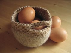 brown eggs and basket