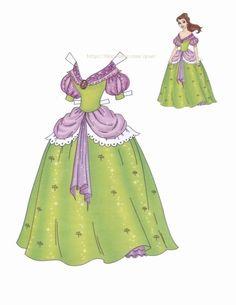 항상 일관성있는 드레스의 동화속 공주님들.. 지겨운 일상복과 벨의 금색 드레스는 잠시잊고 무도회장에 가...