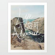 Great Adventure Art Print by Leah Flores - $18.00