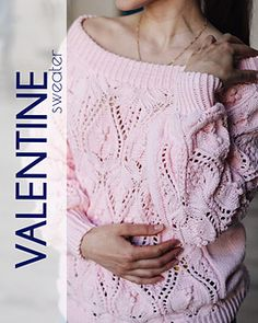 Ravelry: My Valentine pattern by Tatiana Uluceviz Lace Sweater, Stockinette, Needles Sizes, 3 Things, Stitch Markers, Knitting Needles, Ravelry, Create Your Own, Tapestry