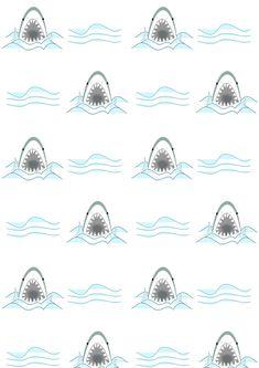 Free digital shark scrapbooking paper - ausdruckbares Geschenkpapier - freebie | MeinLilaPark – DIY printables and downloads